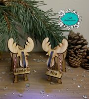 Personalised Reindeer Place Setting names Christmas table names Table Decoration