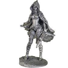 Little red riding hood hunter fantasy art. Tin toy soldier 1/23 metal sculpture