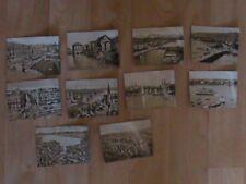 10 photos anciennes en noir et blanc de Zürich. Format 9 cm x 6,5 cm
