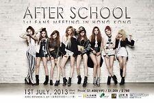 """AFTERSCHOOL """"1ST FANS MEETING IN HONG KONG"""" 2013 CONCERT TOUR POSTER-K-Pop Music"""