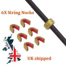 1//5pcs archery bow string protective buckle clip nock set brass nocking point SP