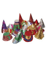 Deluxe Assorted Foil Party Hats Pack 100
