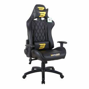 BraZen PC Gaming Chair - Phantom Elite Office Chair - Black