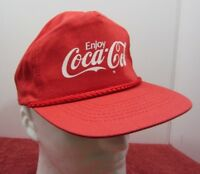 Vintage Enjoy Coca Cola Mesh Back Snapback Trucker Hat Coke