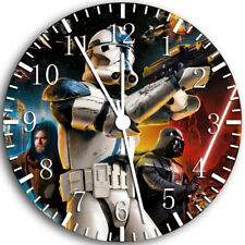 Star Wars Frameless Borderless Wall Clock Nice For Gifts or Decor W75