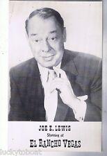 El Rancho Vegas Hotel Joe E. Lewis Stripper Lili St Cyr Advertising Postcard