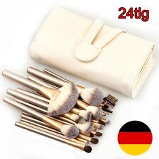 24tlg Make up Brush Pinsel Set Professionelle Kosmetik Schminkpinsel Bürste Tool