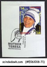 BANGLADESH 2012 102nd BIRTHDAY OF MOTHER TERESA SPECIAL CANCL. ON COVER CUT-OUT