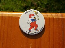 "Calgary '88 XV Olympic Winter Games 2 1/2"" Lapel Pin Pinback Button"