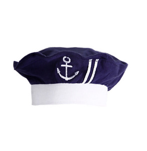 Newborn Infant Nautical Sailor Embroidered Baby Boy Hat, 3-12 Months