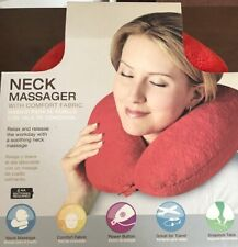 Spa Massage Red Neck Massager With Micro Plush Fabric-GREAT GIFT IN BOX💕🎄🌺