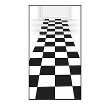 Party Supplies Birthday Boys Decorations Car Racing Checkered Floor Runner