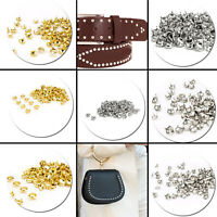 100pcs Star Studs Diamond Cut Nail Head Studs DIY Leathercraft Fashion Accessory