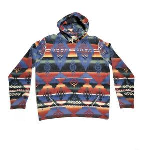 Polo Ralph Lauren Aztec Southwestern Beacon Fleece Hoodie Serape Mens XL