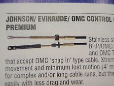 CONTROL CABLE 19 FT CCX20519 JOHNSON EVINRUDE OMC 1979-UP SHIFT OR THROTTLE