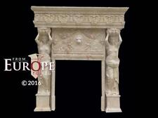 antique marble fireplace mantels. HAND CARVED FIGURATIVE SOLID TRAVERTINE MARBLE FIREPLACE MANTEL  MFMN74 Marble Antique Fireplaces Mantels eBay