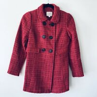 Loft Ann Taylor Women's Petites Long Sleeve Knit Coat NWT $119 Size XSP Red/Pink