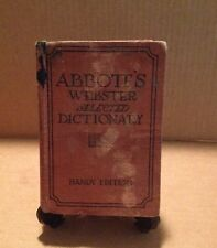 Vintage Abbott's Webster Selected Dictionary Handy Edition Copyright 1923
