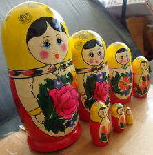 """traditional Wood Hand painted Russian Nesting Doll Dolls 7 Pcs 7.2"""""""