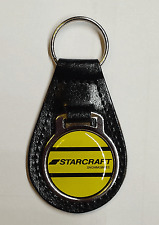 Reproduction Vintage Starcraft Snowmobile Leather Keychain