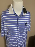 RLX Ralph Lauren 2014 PGA Championship Striped Mens Golf Polo Shirt Extra Large