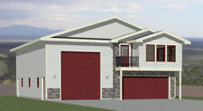 40x48 Apartment with 2-Car 1-RV Garage - PDF FloorPlan - 1,410 sqft - Model 2