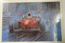 Michael Schumacher signed Nicholas Watts print 'Schumacher Reigns Supreme'