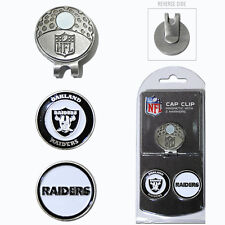 Oakland Raiders NFL Team Golf Cap Clip with 2 Magnetic Enamel Ball Markers