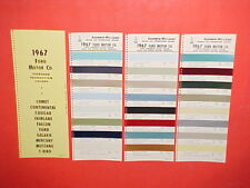 1967 FORD MUSTANG THUNDERBIRD LINCOLN CONTINENTAL MERCURY COUGAR PAINT CHIPS SW