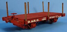 ON3/ON30 SILVER CITY MODELS D&RGW 1872 14' 4 WHEEL FLAT CAR KIT