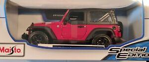 Maisto 1:18 2014 Jeep Wrangler Diecast Special Edition