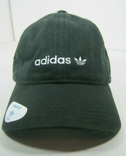Adidas Womens Originals Relaxed Strapback Cap Black White 100% Cotton One Size