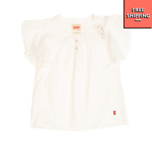 LEVI'S Top Size 14Y Embroidered Openwork