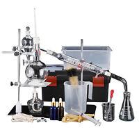 Labor Neue 500ml ätherisches Öle Destille Rein Wasser Gerät Glaswaren Satz