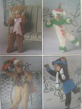 Vtg Simplicity 8275 TEDDY BEAR COSTUME & CLOTHES Sewing Pattern Child Toddler