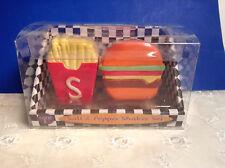 Salt & Pepper Shaker Set Hamburger & Fries for Summer Set NEW