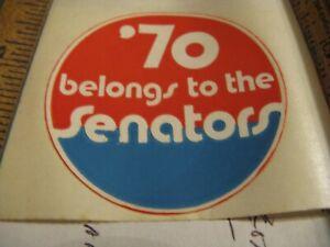 RARE Baseball Sticker 1970 WASHINGTON SENATORS~ Last Season before TEXAS move