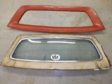 ORIGINAL 1970 DODGE CHALLENGER SE REAR WINDOW GLASS & SURROUND COMPLETE