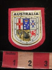 Australia Patch With A Coat Of Arms Theme - Red Felt Back C87K