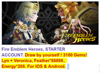Fire Emblem Heroes. 3 1 0 0 G e m s ! I O S & A n d r o i d !