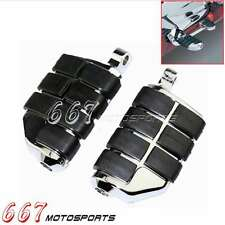 2x Chrome Motorcycle Wing Footpeg Foot Pegs Rests For Male Mount Harley Softail