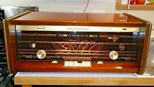 RARE 1964/65 PHILIPS 10-Tube AM FM UHF SHORT WAVE LONG WAVE RADIO B6X43A [1340]