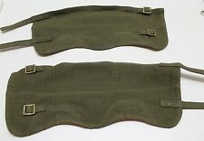 P37 style Belgian Army OD green canvas Leggings putties size 2 E3157
