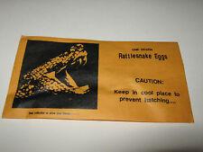Rattlesnake Eggs in Envelope Practical  Joke Prank Gag Trick snake reptile