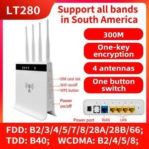 Unlocked LTE Modem US SIM Card 4G Router WiFi Hotspot For AT&T Verizon T-Mobile