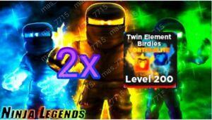 [LIMITED OFFER] Roblox Ninja Legends Twin Element Birdies VORTEX-ELITE pet x2