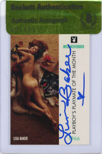 LISA BAKER SIGNED #39 PLAYBOY TRADING CARD PLAYMATE ENCAPSULATED BECKETT BAS