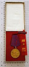 YUGOSLAVIA - Partisan Order of Merits for the People in Original Box + Ribbon