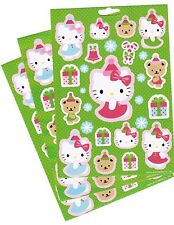 SANRIO Hello Kitty Christmas XMAS Hat Winter Snow Stickers 3 Sheets! GREEN!
