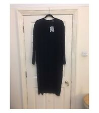 Topshop Boutique Navy Silk Midi Dress 12